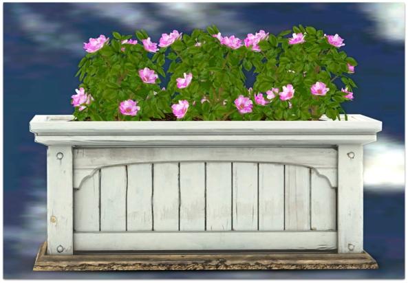 PLANTER-~ xantes ~ Mesh Roses Wood Planter - Pink_001