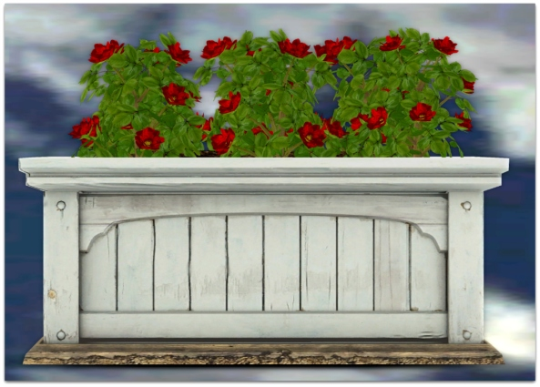 PLANTER-~ xantes ~ Mesh Roses Wood Planter - Red 2_001