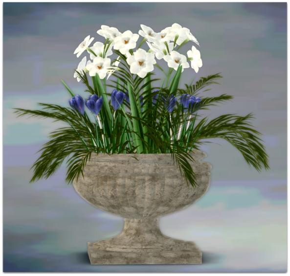 PLANTER-~ xantes ~ Spring Flowers Pot Lina - Mesh_001