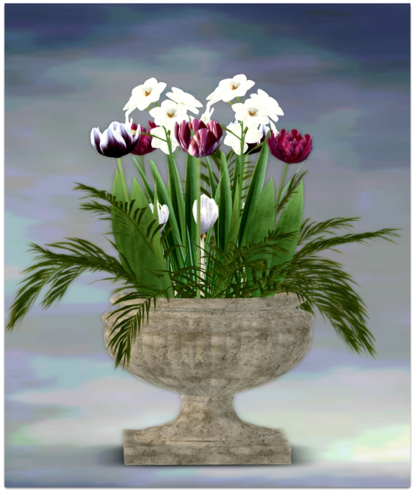 PLANTER-~ xantes ~ Spring Flowers Pot Liv - Mesh_001