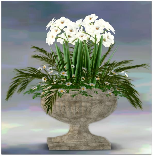 PLANTER-~ xantes ~ Spring Flowers Pot Lori - Mesh_001