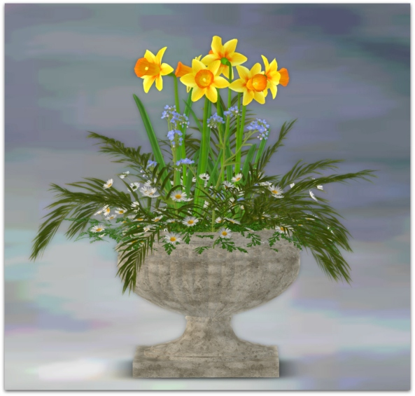PLANTER-~~ xantes ~ Spring Flowers Pot Maja - Mesh_001