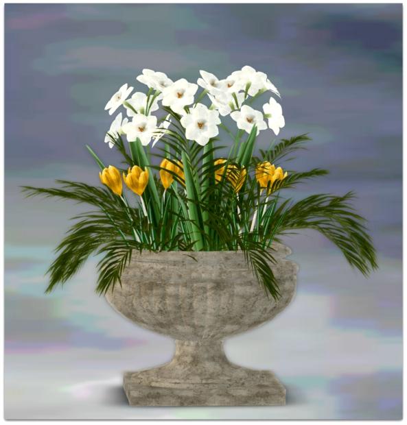 PLANTER-~ xantes ~ Spring Flowers Pot Mila - Mesh_001