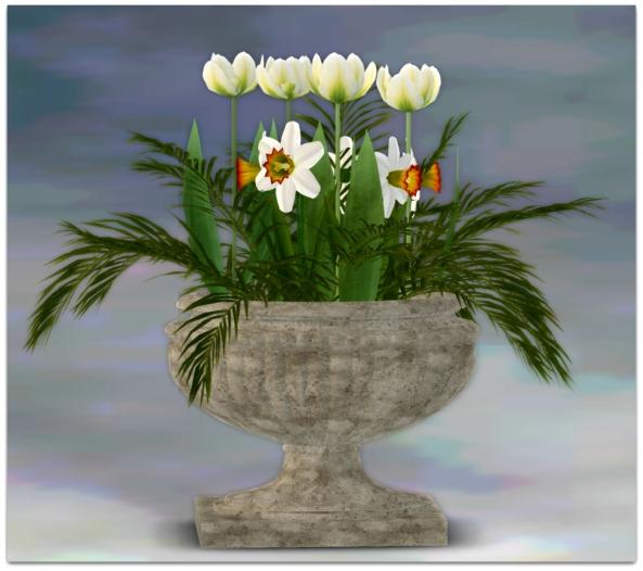 PLANTER-~ xantes ~ Spring Flowers Pot Ria - Mesh_001