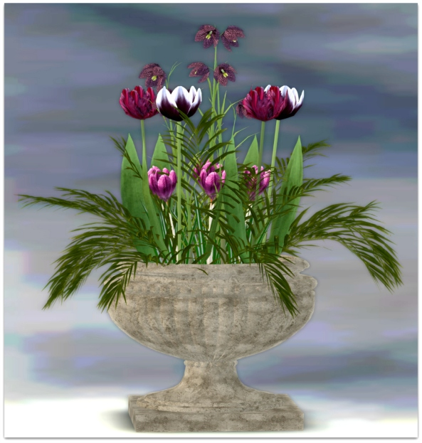 PLANTER-~ xantes ~ Spring Flowers Pot Zoe - Mesh_002 FINAL