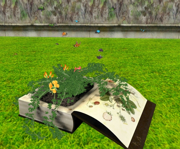 ~ xantes ~ Fantasy Book Planter with Butterflies 01_001