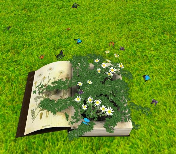 ~ xantes ~ Fantasy Book Planter with Butterflies 02_001