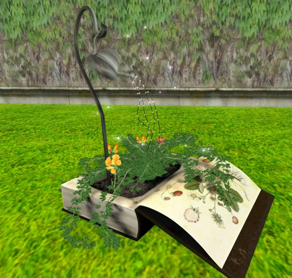 ~ xantes ~ Fantasy Book Planter with Watering Can 01_001