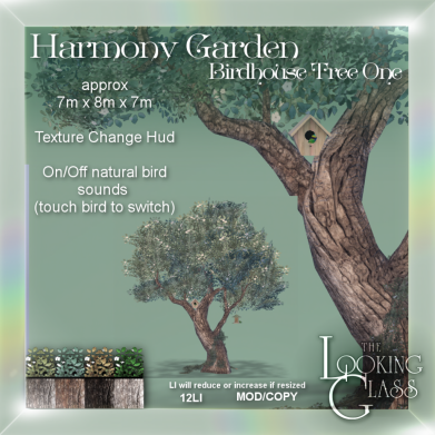 Harmony Garden Birdhouse Tree One Ad