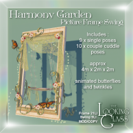 Harmony Garden Picture Frame Swing Ad