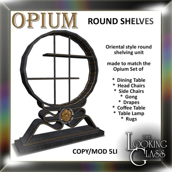 TLG - Opium Round Shelves Ad