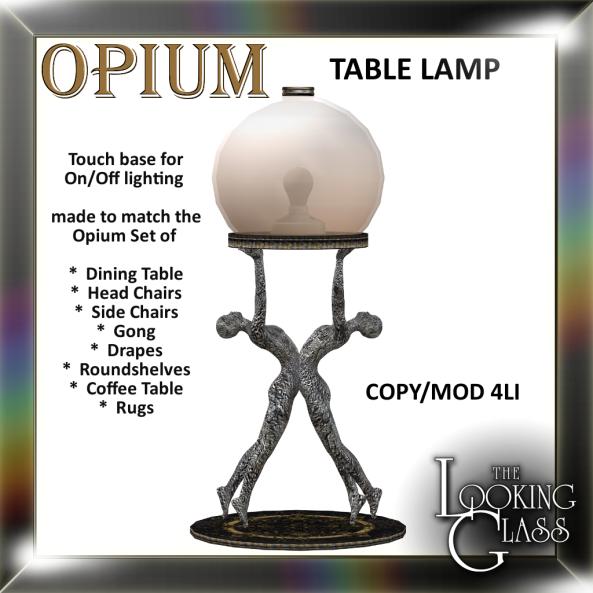 TLG - Opium Table Lamp Ad