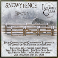 TLG - Snowy Fence Brown