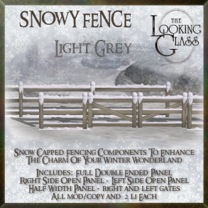 TLG - Snowy Fence Light Grey