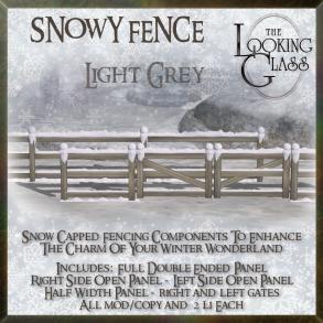 TLG - Snowy Fence Light Grey
