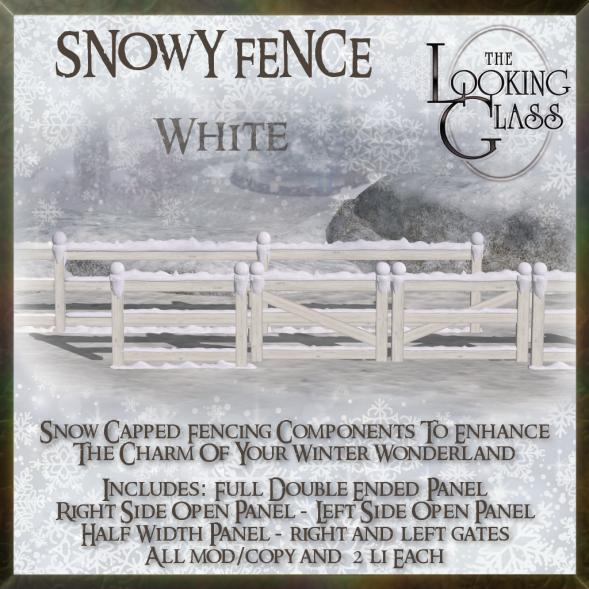 TLG - Snowy Fence White