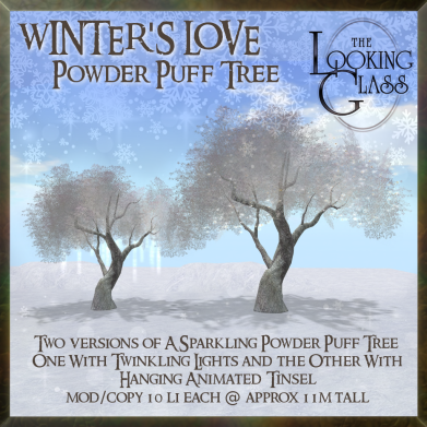 TLG - Winter's Powder Puff Tree Ad