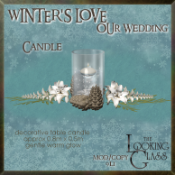 tlg - winter's love wedding candle