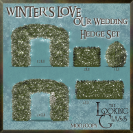 tlg - winter's love wedding hedge set
