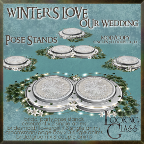 tlg - winter's love wedding pose stands
