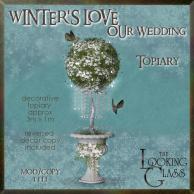 tlg - winter's love wedding topiary