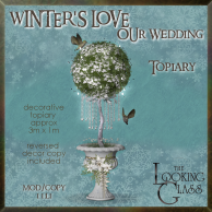 tlg - winter's love wedding topiary