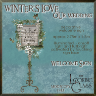 tlg - winter's love wedding welcome sign 1
