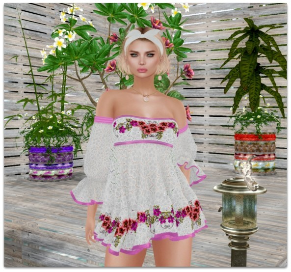 TLG BOHO SUMMER DRESS IN PINK